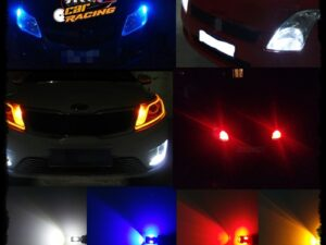 Ampolletas Led T10 (Cola de pescado) Color Rojo