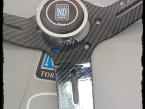 Volante Deportivo Nardi Eco Cuero Fibra de Carbono