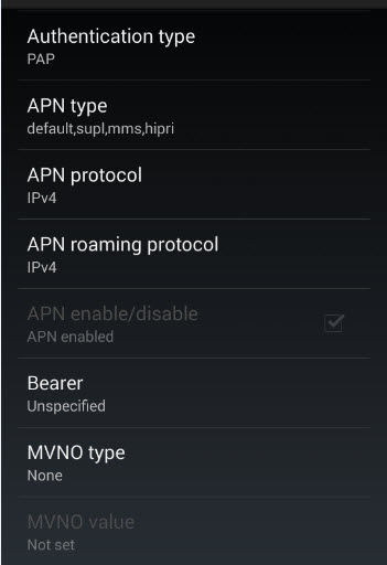 Nexus 5 Straight Talk LTE APN Settings part 3