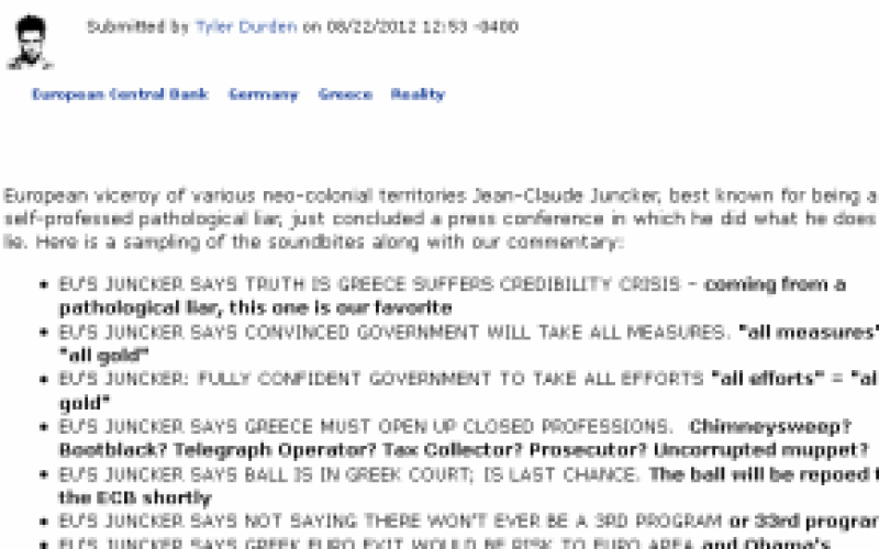 The Truth Behind Juncker's Lies: In The Second Largest Greek City, 1250 Companies Have Shuttered In 2012