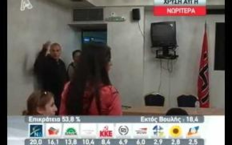 This Is How Greek Neo-Nazis Deal With Confrontation On Live TV