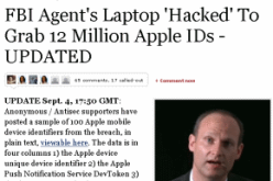 Hackers Find 12 Million Apple Users Personal Data On FBI Laptop
