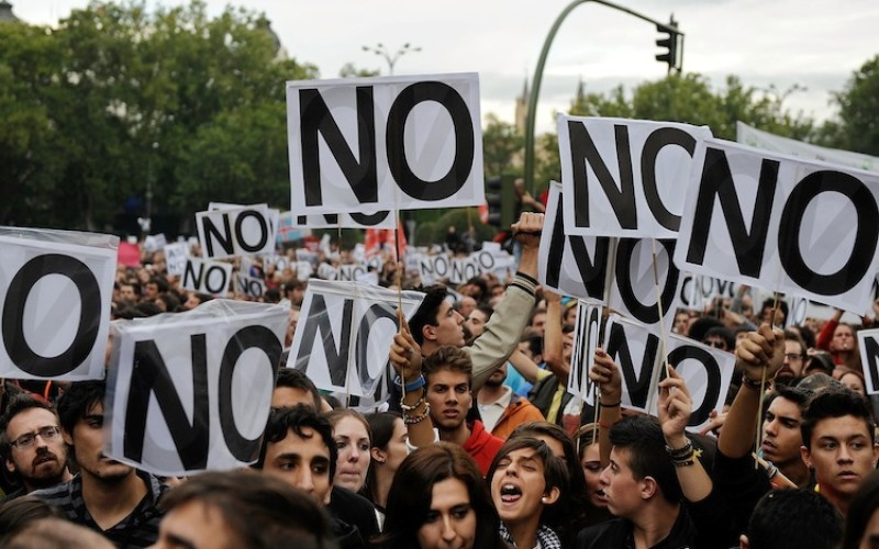 Spain Protesters Fired Upon As Thousands Surround Madrid Congress