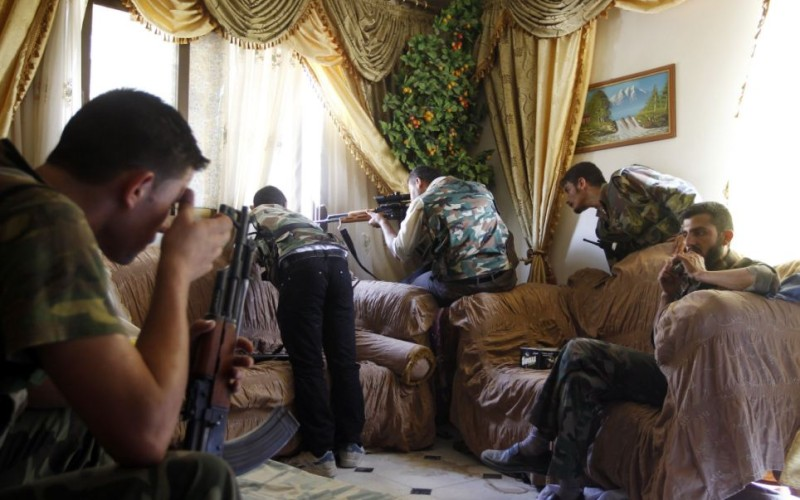 Surreal Photos Of Syria Rebel Sniper False Flag In Action