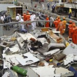 FILE -- In this Friday, June 19, 2009 file photo released by Brazil's Navy, pieces of debris of the Air France Flight 447 are seen on the Brazil's navy ship Caboclo, at the port of Recife, Brazil. More than 600 pieces of Air France Flight 447 are being sent from Brazil to France by ship to be studied further for clues to the June 1 crash, Airbus said Thursday July 9, 2009 . The disaster overshadowed a meeting of Air France-KLM shareholders on Thursday, with pilots saying the company didn't do enough to prevent the plane from crashing into the Atlantic Ocean. All 228 people aboard were killed and the reason for the accident remains unclear. (AP Photo/Brazil's Navy/HO, File) ** NO SALES **