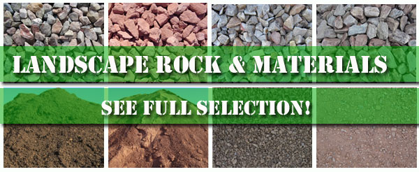 Arizona landscape rock and material selection