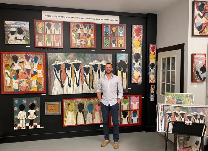 Ponchatoula Art Artist Kalle in his studio