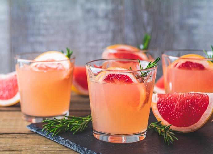 April Cocktail Grapefruit