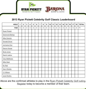 ryan pickett celebrity golf scorecard