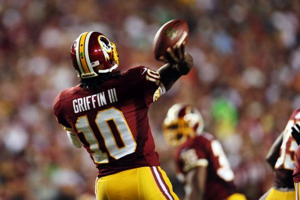 Robert Griffin III passed for just 53 yards in the first half vs. Philadelphia, but finished with 329 yards and two touchdowns.
