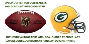 Packers Merchandise and Memorabilia - Eddie Lacy, Datone Jones, Johnathan Franklin, DuJuan Harris Autographs