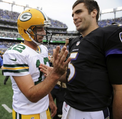 Aaron Rodgers and Joe Flacco
