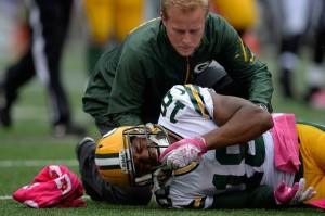 Randall Cobb suffered a fractured fibula Oct. 13. He is scheduled to return in Week 15.
