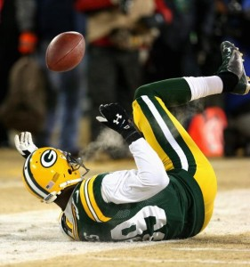 James Jones dropped two key deep balls on Sunday. He is a free agent after this season.