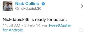 Nick collins tweet