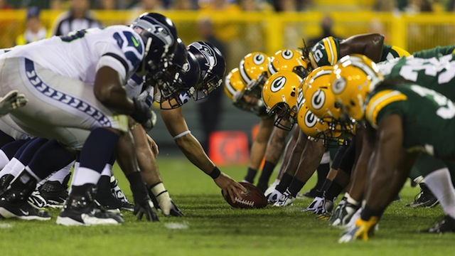 The Green Bay Packers vs The Seattle Seahawks