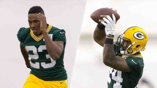 Packers Defensive Backs Damarious Randall and Quinten Rollins