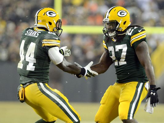 Packers Running Backs James Starks and Eddie Lacy