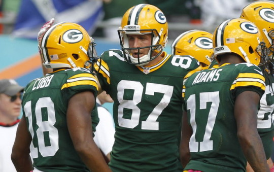 Packers Receivers Jordy Nelson, Randall Cobb and Davante Adams