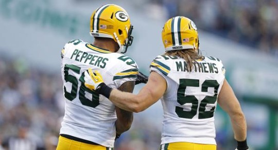 Packers LBs Julius Peppers and Clay Matthews