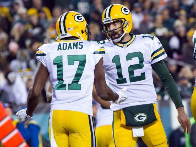 Packers' WR Davante Adams and QB Aaron Rodgers