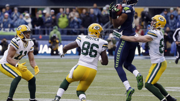 Former Packers' TE Brandon Bostick in the 2014 NFC Championship Game