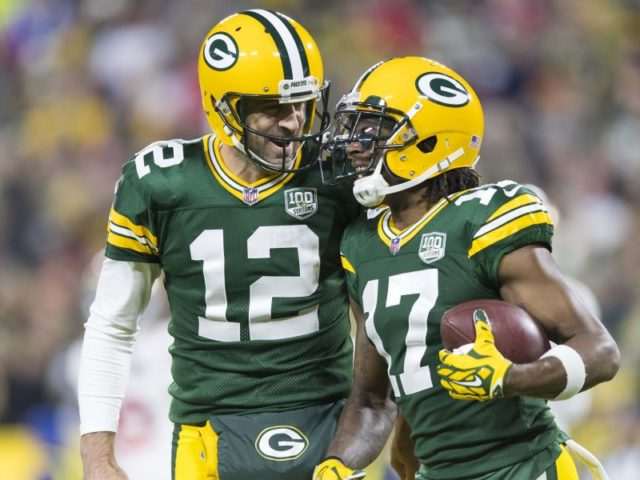 Packers' QB Aaron Rodgers and WR Davante Adams