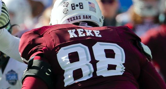 BREAKING: Green Bay Packers select Kingsley Keke, DE, Texas A&M in Round 5