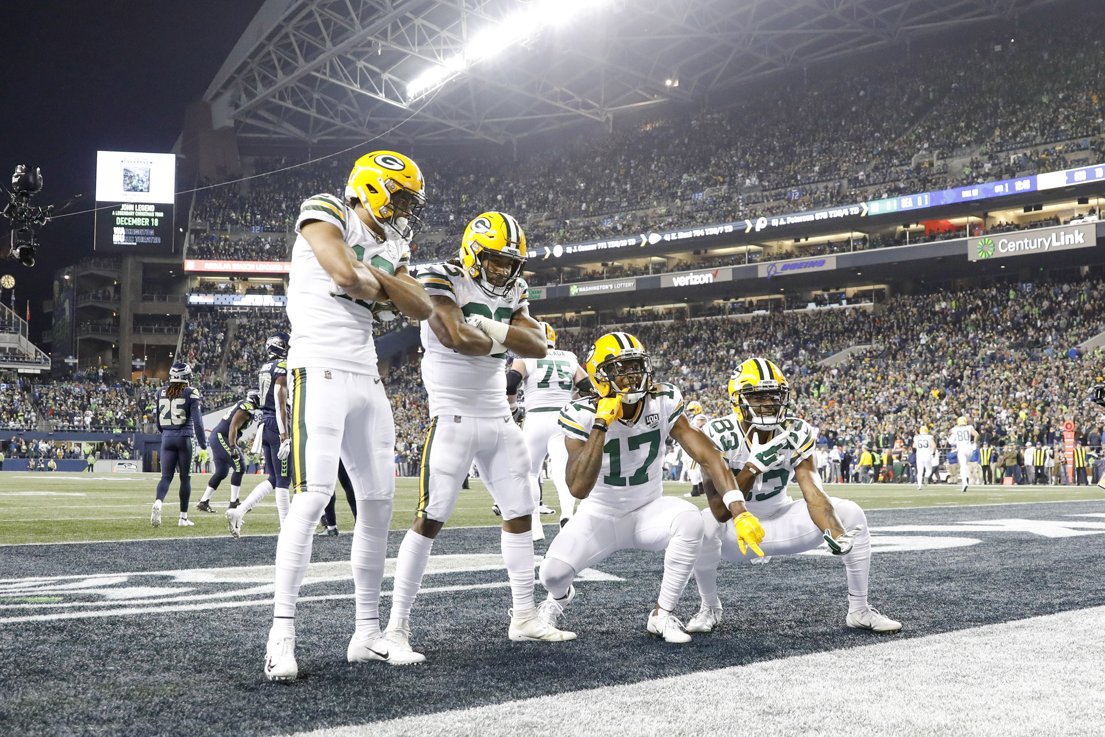 How much experience is on the Packers' roster?