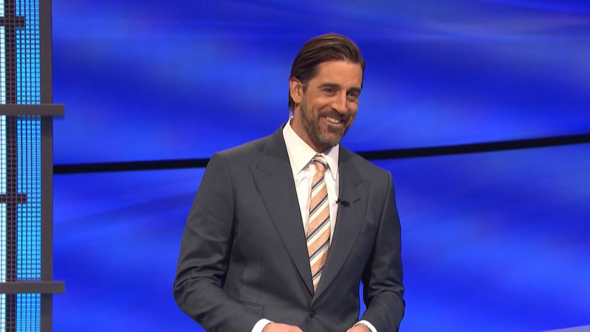 Aaron Rodgers first day of guest hosting Jeopardy a success