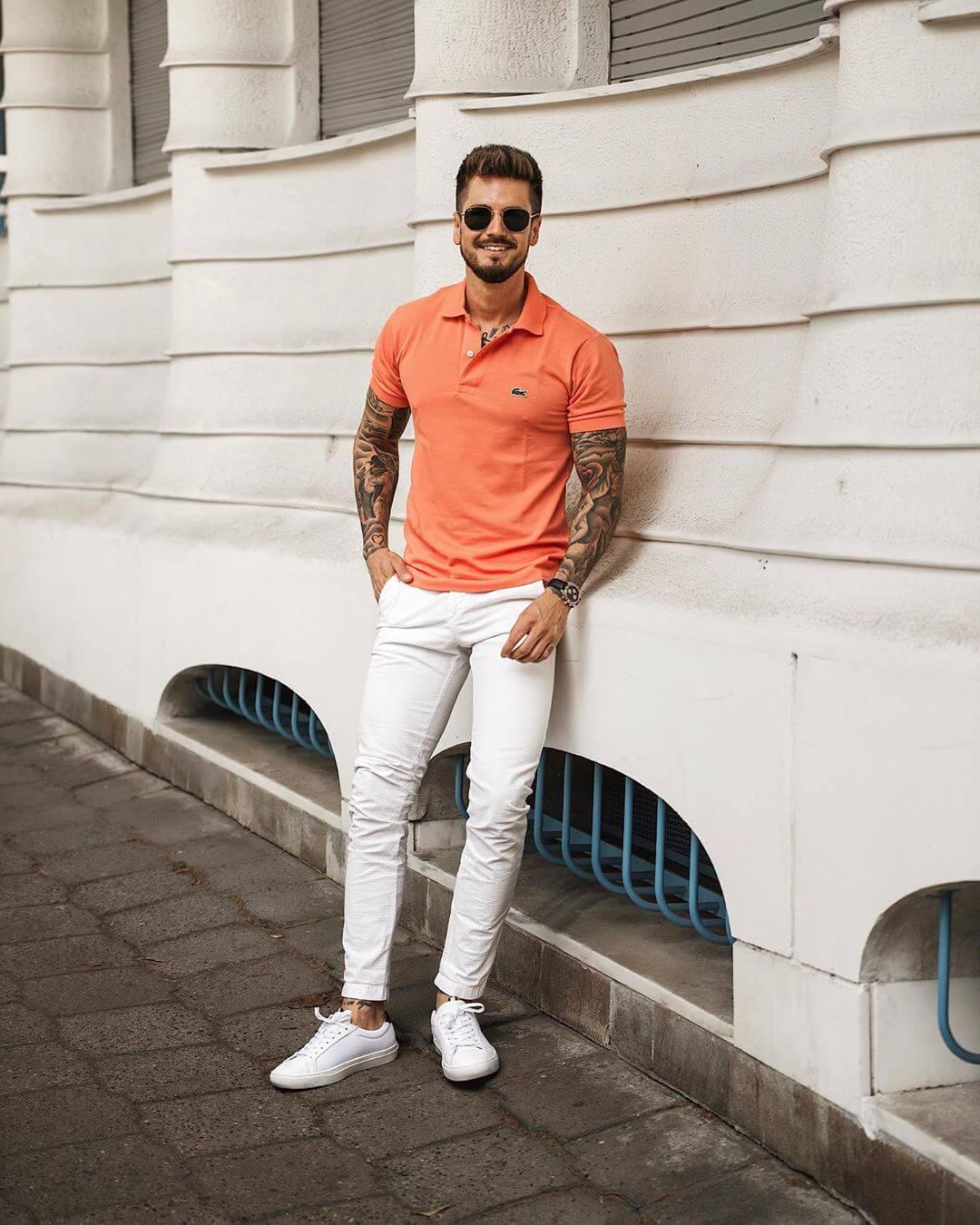 4 gợi ý phối đồ cùng quần chinos trắng giúp chàng định hình vẻ ngoài thật phong cách