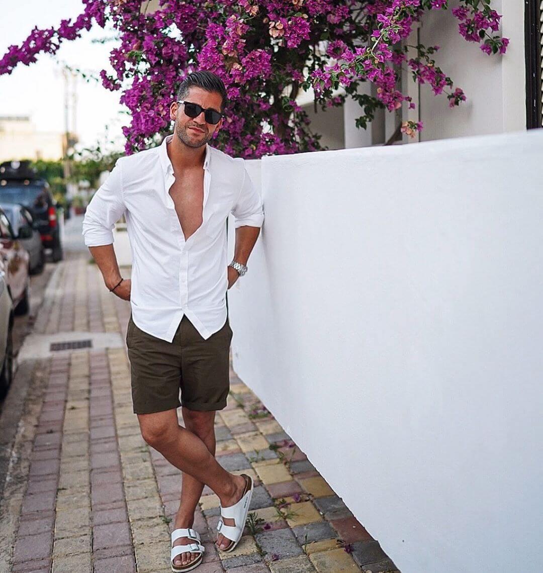 Cảm hứng phối đồ với áo sơ mi và short cho chàng thêm trẻ trung thời trang