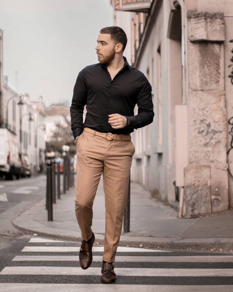 5 cách phối áo sơ mi đen đến công sở cho anh chàng nam tính