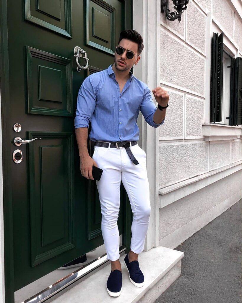 7 cách phối quần chinos trắng để chàng đến công sở bảnh bao cá tính