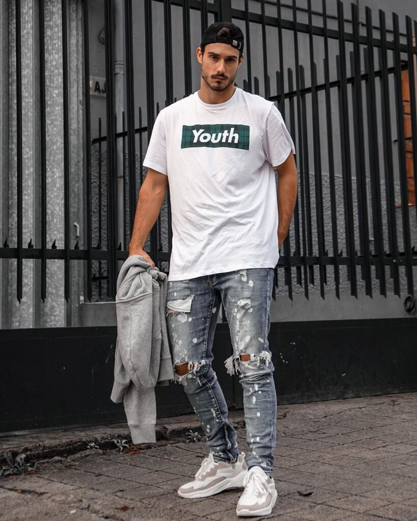 nam tính miễn bàn với 7 cách phối quần jeans