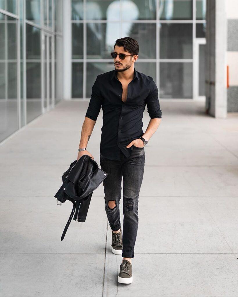 5 cách phối áo sơ mi với quần jeans giúp chàng vừa thanh lịch