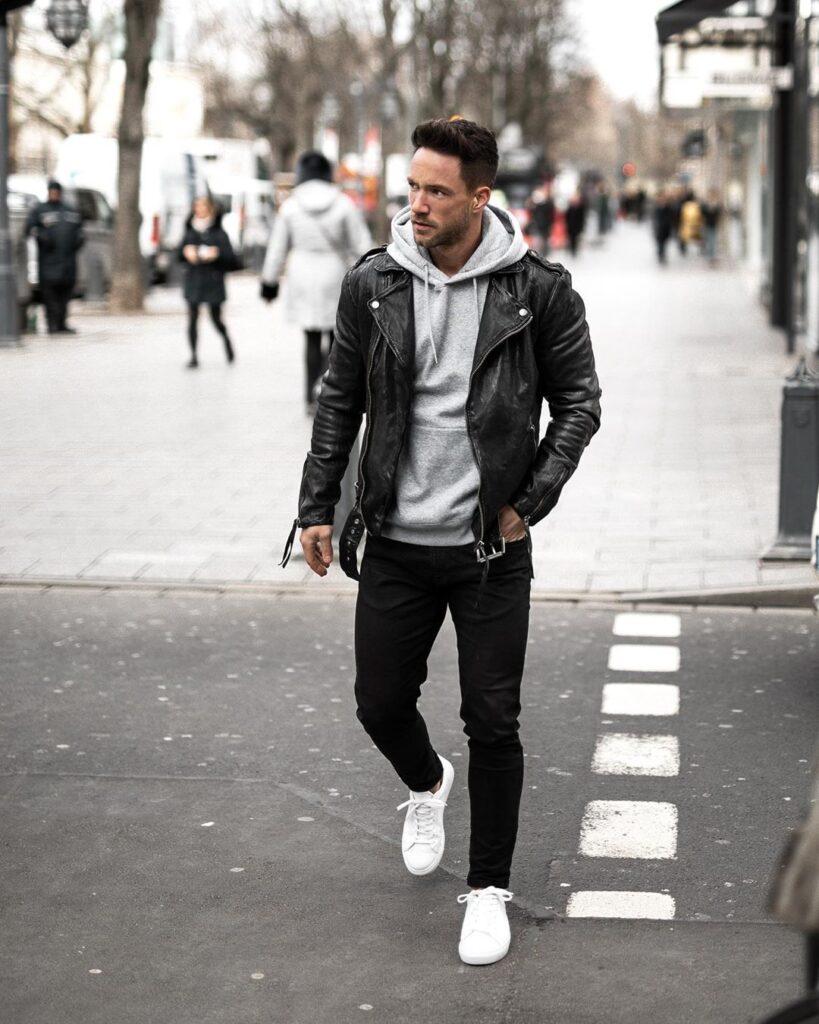 Cảm hứng phối quần skinny jeans đen