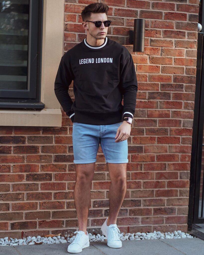 Năng động trẻ trung với 7 cách phối quần short jeans đơn giản