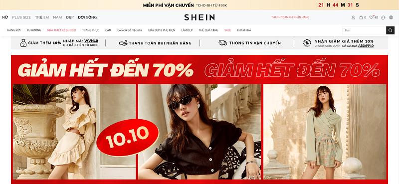 Mua sắm online tại Shein Việt Nam 1