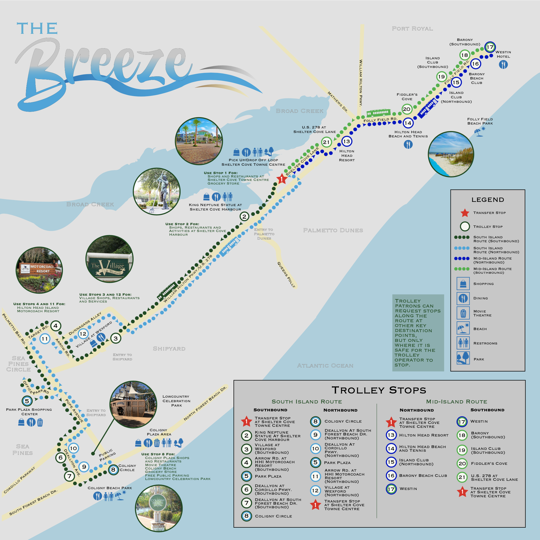 Breeze Trolley Route Map 2021