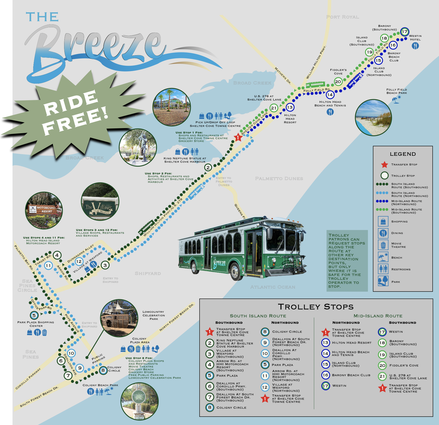 Breeze Trolley Map 2021