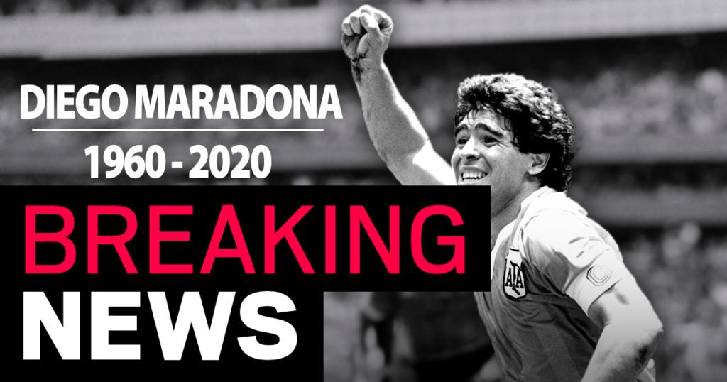 diego maradona wafat di usia 60
