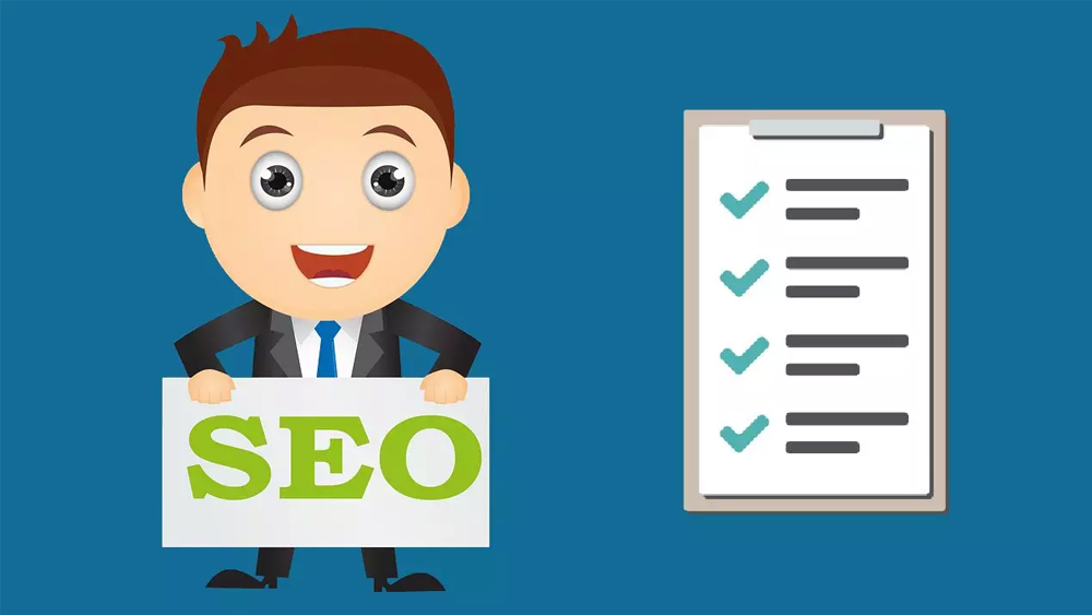 business man happy with SEO checklist done