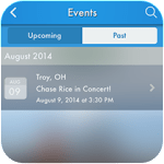 Event Listing Feature