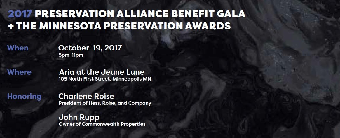 2017 Preservation Alliance Benefit Gala Anouncement