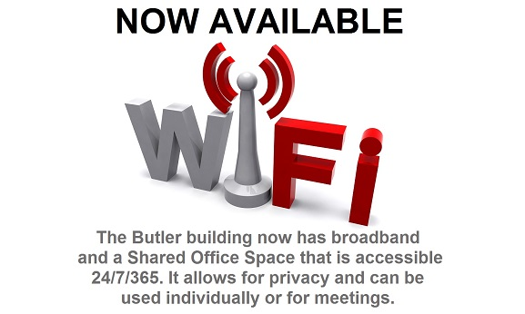Butler Building Has Wi-Fi