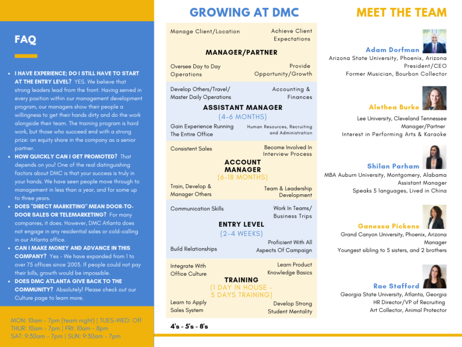 DMC Atlanta Trifold