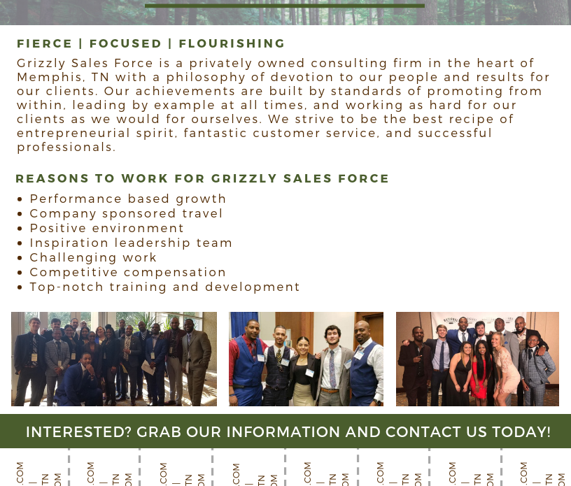 Grizzly Sales Force. - Job Flyer