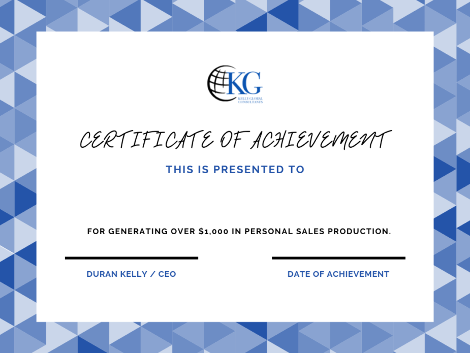 KGC Certificate