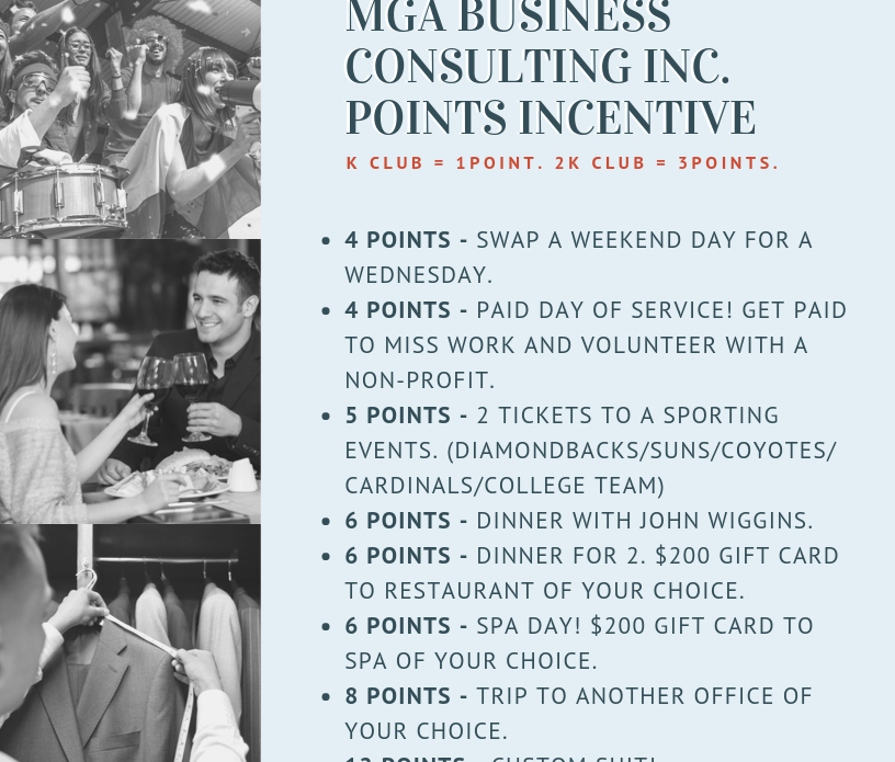 MGA Points Incentive Flyer